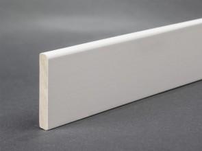 Deckleiste Weiß lackiert 35 mm x 6 mm (Massivholz)