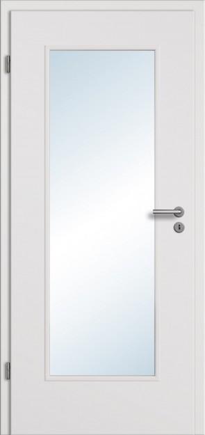 Türelement CPL Uni Grau Glasausschnitt