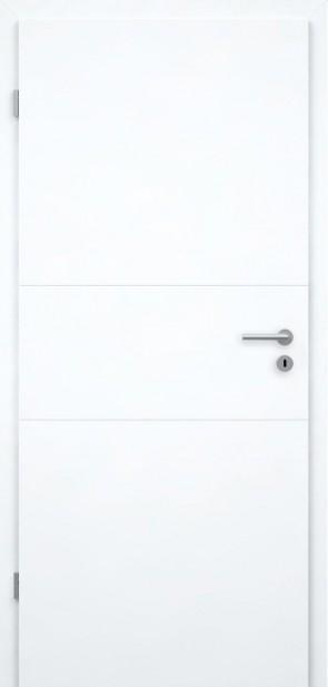 Designtür Superweiß | Rillen (Roma)