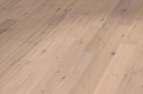Parkett Muster Landhausdiele Eiche astig gebürstet (weiß geölt)