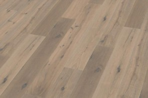 Parkett Eiche geräuchert astig handgehobelt weiß geölt (15 x 189 x 1860 mm)