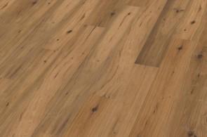 Muster Fertigparkett Landhausdiele Eiche gealtert astig handgehobelt geräuchert geölt 3-Schicht (15 x 189 x 1860 mm)