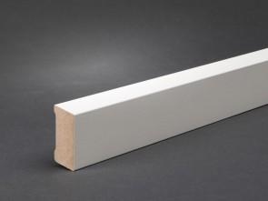 Wagner Sockelleiste Weiß 40 x 16 mm, Oberkante abgeschrägt (MDF)