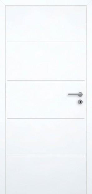 Tür Superweiß bündig | Chrom L1