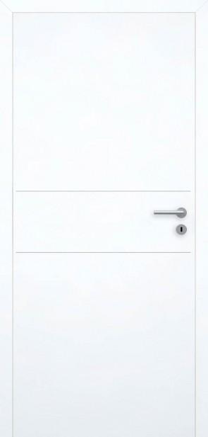 Flächenbündige Tür Superweiß L2