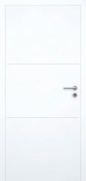 Tür Superweiß bündig | Chrom L3