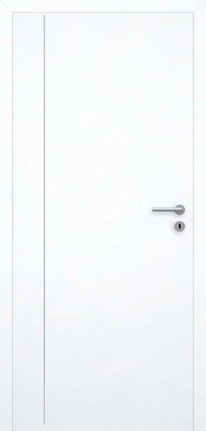 Tür Superweiß bündig | Chrom L4