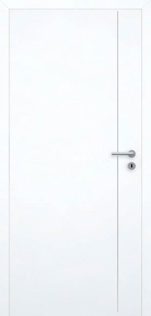 Tür Superweiß bündig | Chrom L5