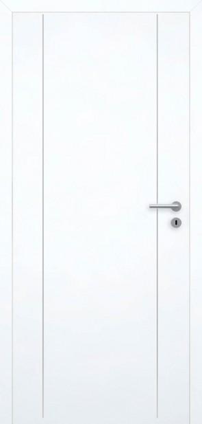 Tür Superweiß bündig | Chrom L6