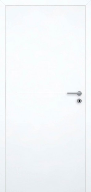 Tür Superweiß bündig | Chrom L7