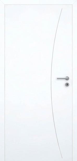 Tür Superweiß bündig | Chrom L9