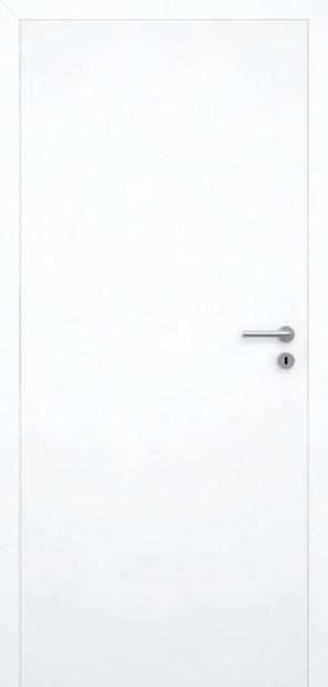 Flächenbündige Tür Superweiß