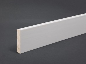 Sockelleiste Weiß MDF 60 mm x 10 mm gerade Oberkante
