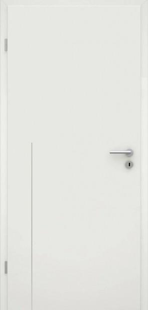 Tür Weißlack RAL 9010 Lisene L8
