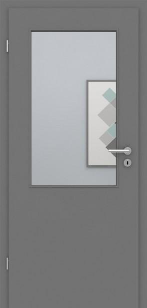 Tür mit Zarge Metallgrau LA002 | Höhe 198,5 und 211cm | Türblatt MDF, Zarge CPL