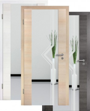 Holzglastür CPL Fineline Sandstrahlmotiv 10