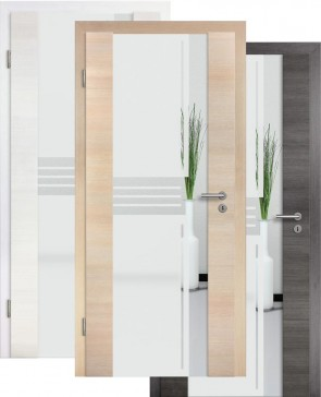 Holzglastür CPL Fineline Sandstrahlmotiv 11