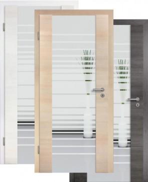 Holzglastür CPL Fineline Sandstrahlmotiv 17