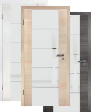 Holzglastür CPL Fineline Sandstrahlmotiv 18