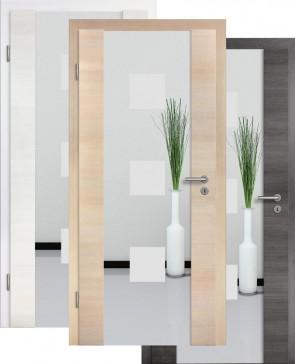 Holzglastür CPL Fineline Sandstrahlmotiv 1