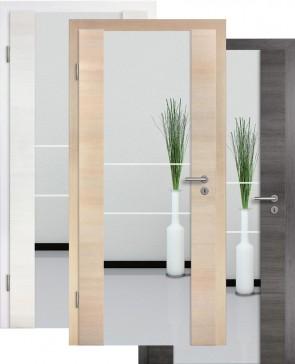Holzglastür CPL Fineline Sandstrahlmotiv 21