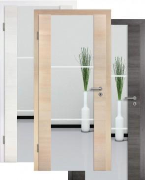 Holzglastür CPL Fineline Sandstrahlmotiv 27