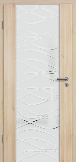 Holzglastür CPL Akazie (Lara 72)