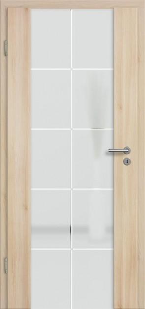 Holzglastür CPL Akazie (Lara 73)
