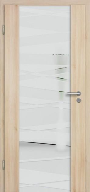 Holzglastür CPL Akazie (Lara 75)