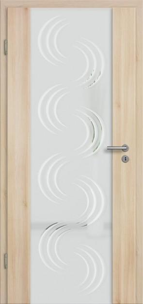 Holzglastür Akazie (Lara 78)