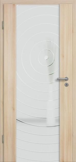 Holzglastür Akazie (Lara 79)