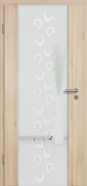 Holzglastür Akazie (Lara 80)