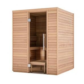 Sauna Bausatz aus Holz | Tiefe 1,63 m, Breite 1,63 m, Höhe 2,05 m