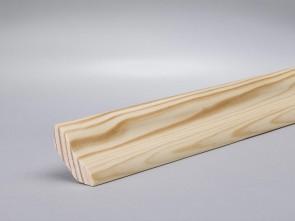 Kiefer Hohlkehlleisten 25mm x 25mm Massivholz