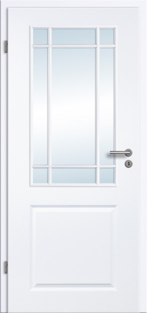 Landhaustür Weiß Glas 2G LA SP9