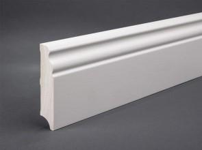 Weiße Sockelleiste Berliner Profil MDF 100 x 20 mm