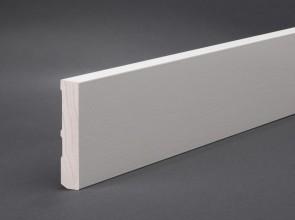 Sockelleiste Weiß lackiert RAL 9016 (Oberkante gerade, 2 mm Rundung)