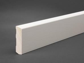Sockelleiste Weiß 58 mm x 15 mm Holz RAL 9016 (Oberkante abgeschrägt)