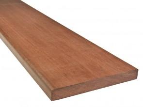 Terrassendiele Massaranduba Holz KD 21 mm x 145 mm / Oberfläche glatt