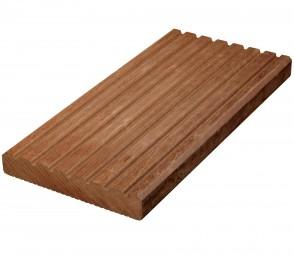 Massaranduba Terrassendielen Holz genutet / gerillt (25 mm x 145 mm)