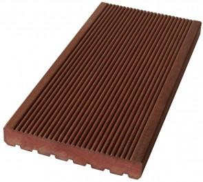 Terrassendiele Massaranduba Holz KD 25 mm x145 mm / Oberfläche fein geriffelt