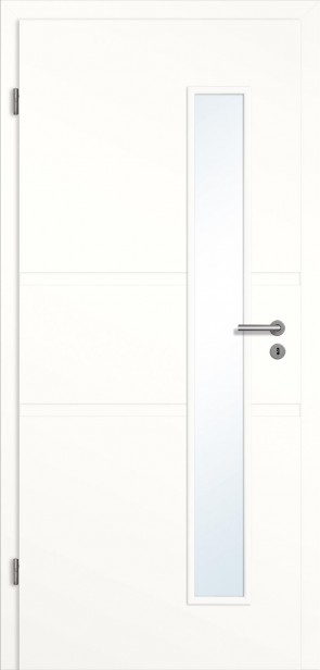 Rillentür Lichtausschnitt Zarge Weiß (Modell Madrid)