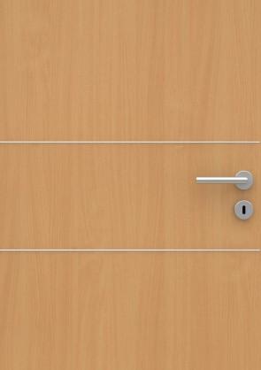 Buche Holzdesign CPL-Tür Muster mit Lisene L2