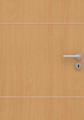 Buche Holzdesign CPL-Tür Muster mit Lisene L3