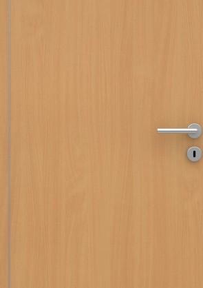 Buche Holzdesign CPL-Tür Muster mit Lisene L4