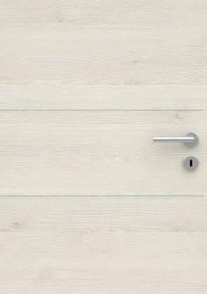 Muster Tür CPL Pinie Design quer mit Lisenen