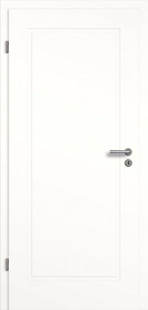 Designtür mit Zarge in Weiß (Modell Novum)