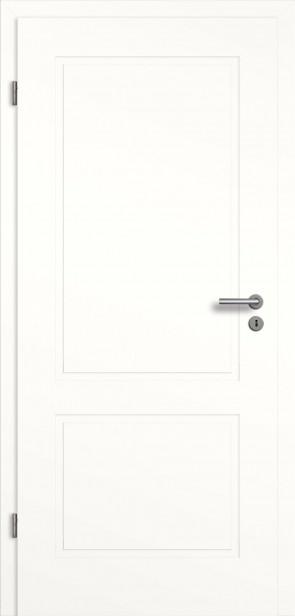 Designtür mit Zarge in Weiß (Modell Novum 2G)