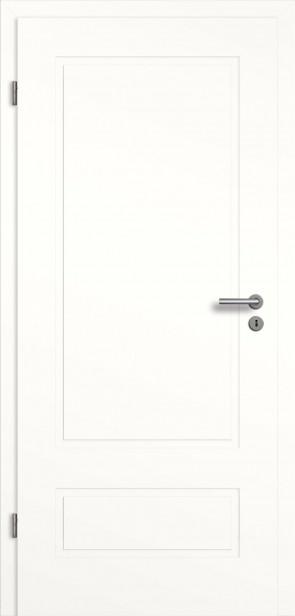 Weißlack Designtür mit Zarge (Novum 2GAD )