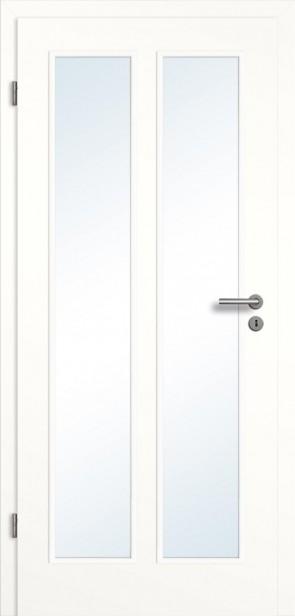 Lichtausschnitt Designtür mit Zarge Weiß (Novum 2GAD22LA)